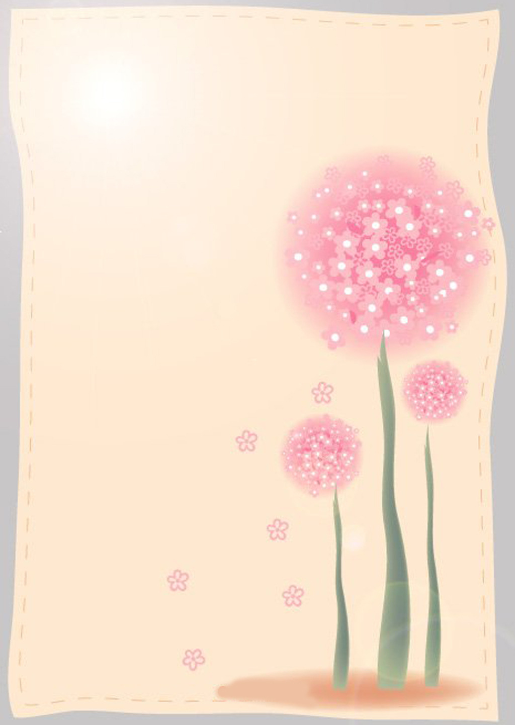 信纸背景 植物花草信纸背景