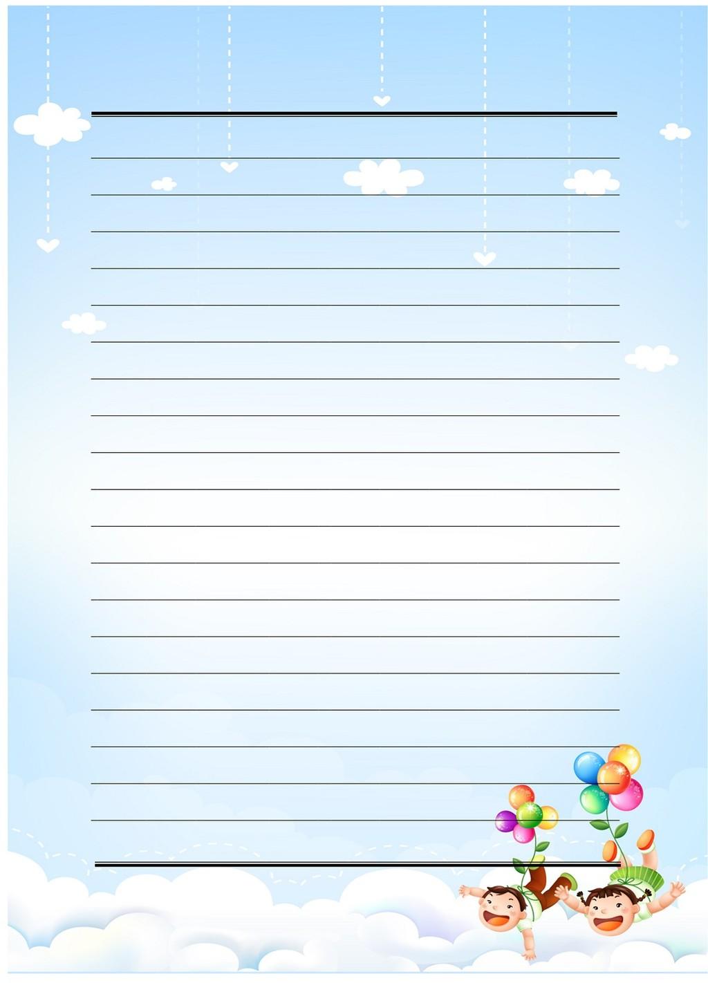 卡通儿童信纸模板下载(图片编号:12217642)