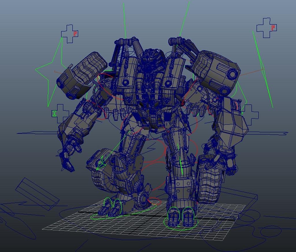 可变行变形金刚3d模型已绑定