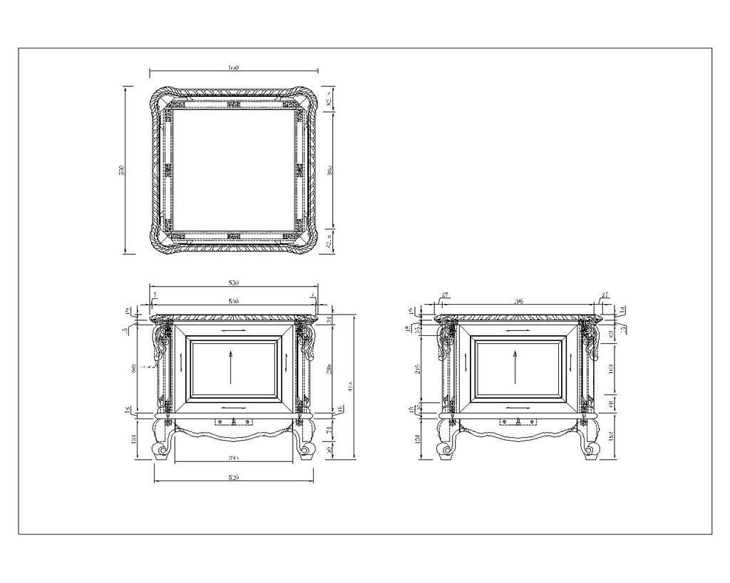 美式花盆cad文件模板下载