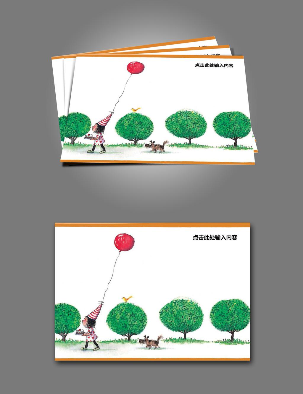 信纸模板 寓言 卡通 插画