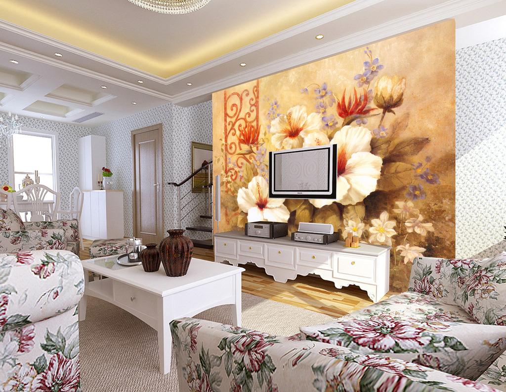 背景墙|装饰画 电视背景墙 欧式电视背景墙 > 欧式古典花背景墙  下一