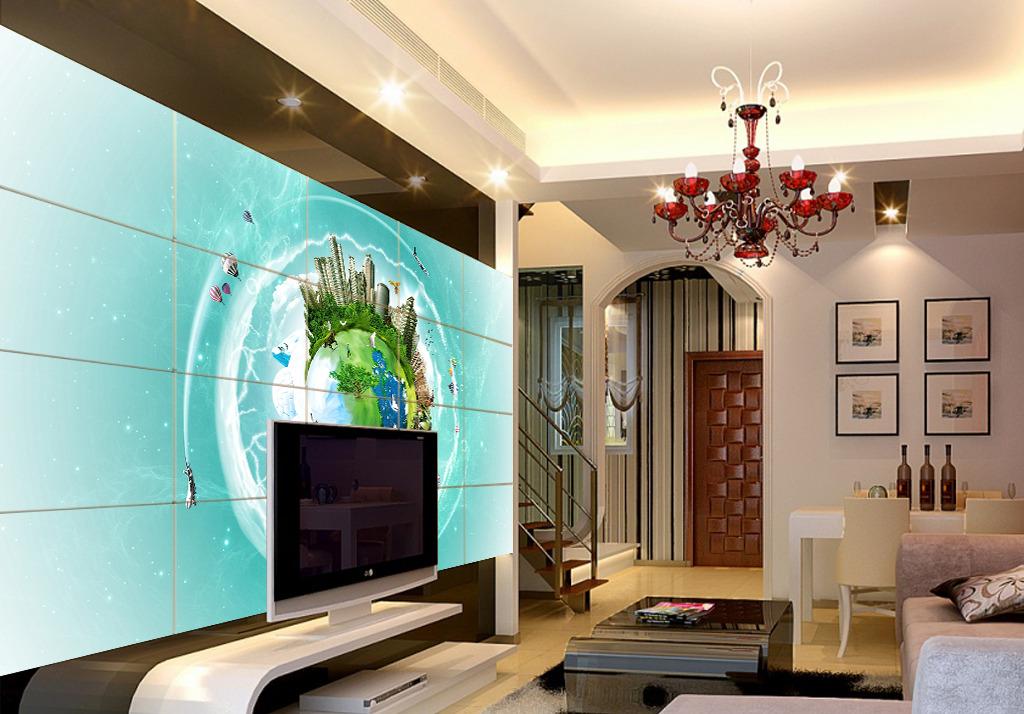 家居装修背景墙海洋电视背景墙实物装修图图片6