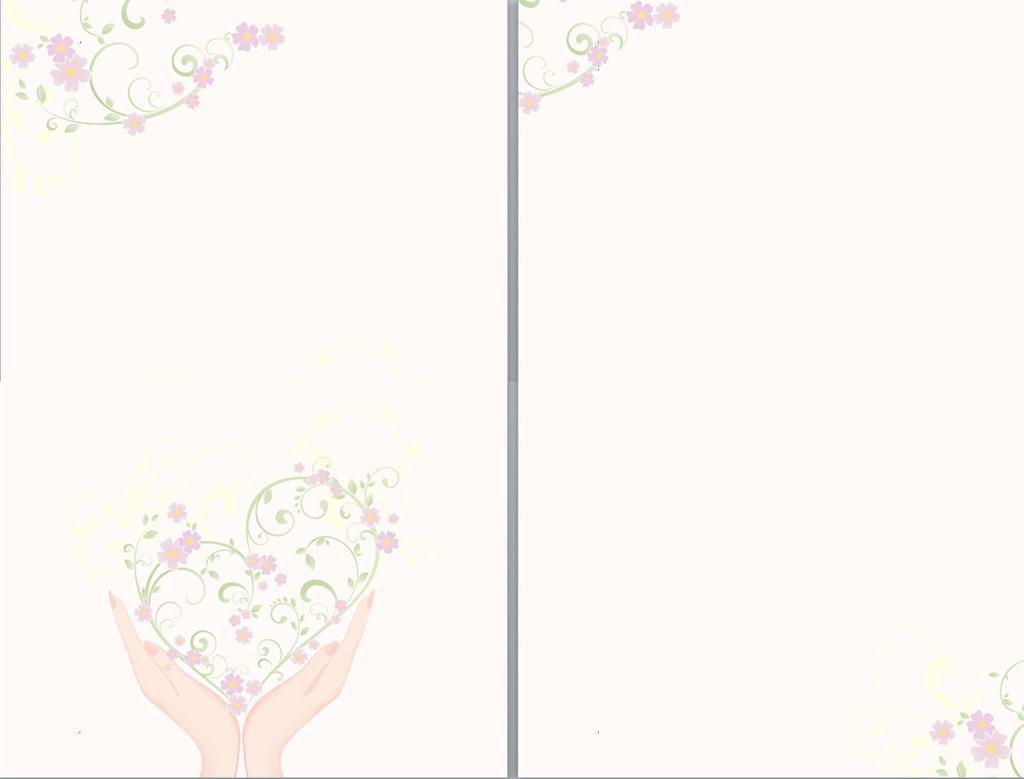 模板/[版权图片]花与爱心信纸模板