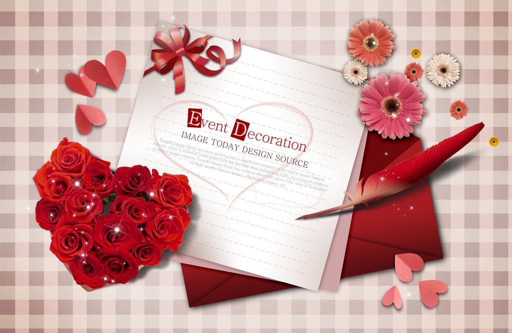 信纸背景 word背景 横版信纸 信纸封皮 封皮 wps 花儿朵朵 红玫瑰