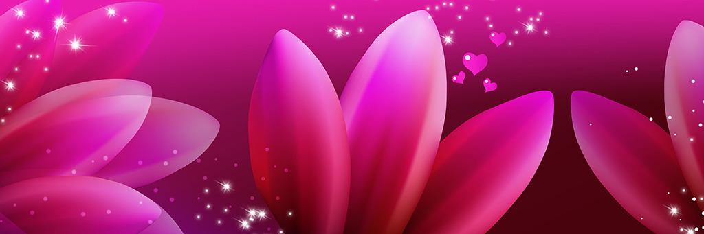 幻灯片模板白底红花