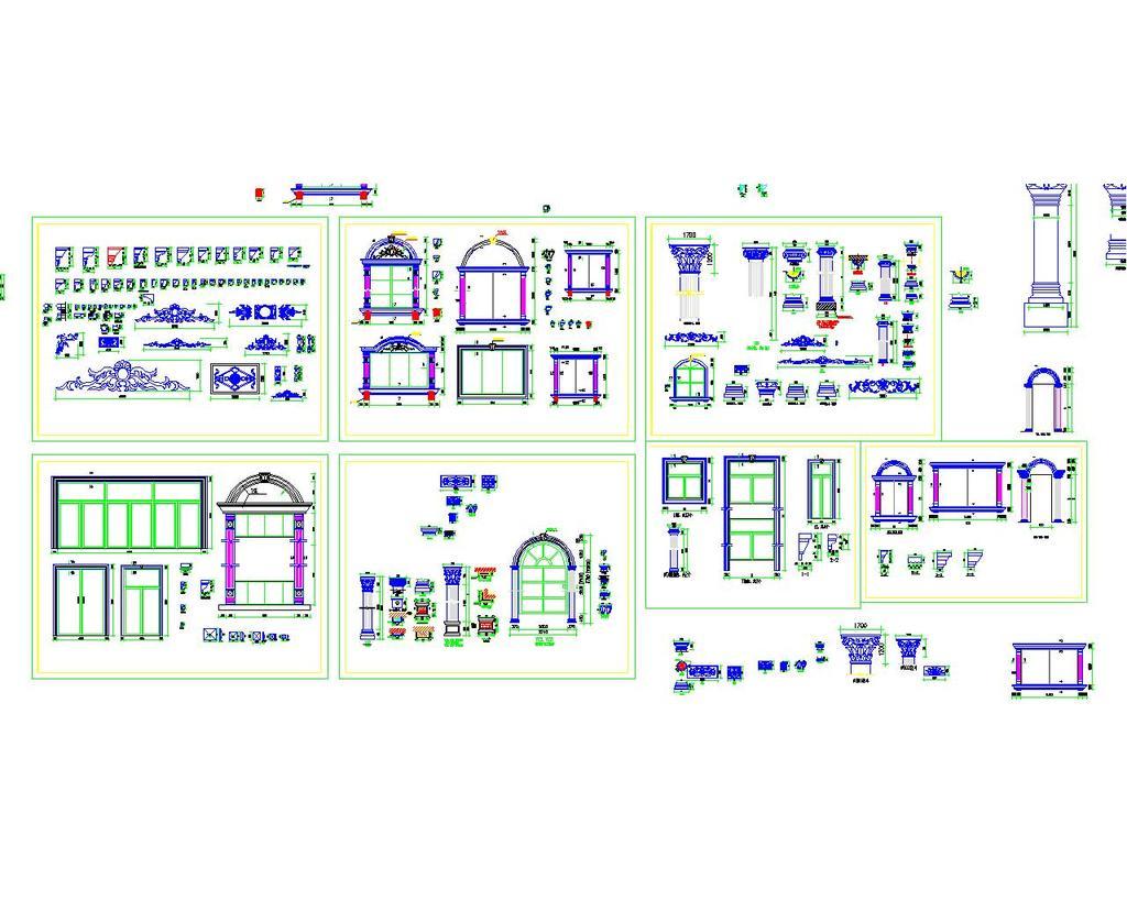 欧式构件cad图库模板下载 欧式构件cad图库图片下载 欧式构件cad图库