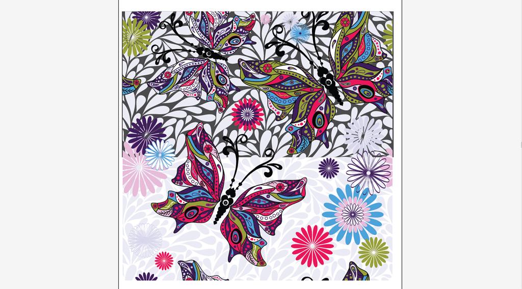 服装设计 面料印花设计 花纹图形设计 > 手绘花纹面料印花设计  下一