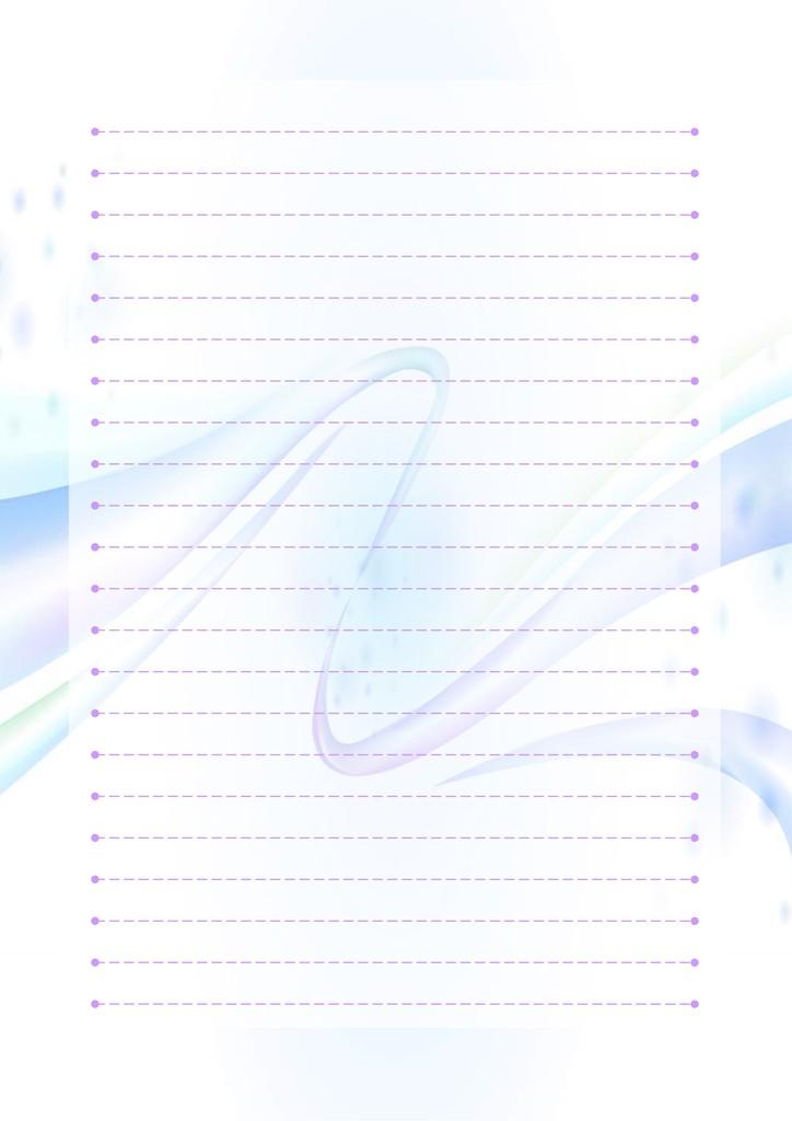 蓝色商务信纸模板模板下载(图片