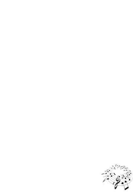 黑白简洁音乐音符信纸背景word模板