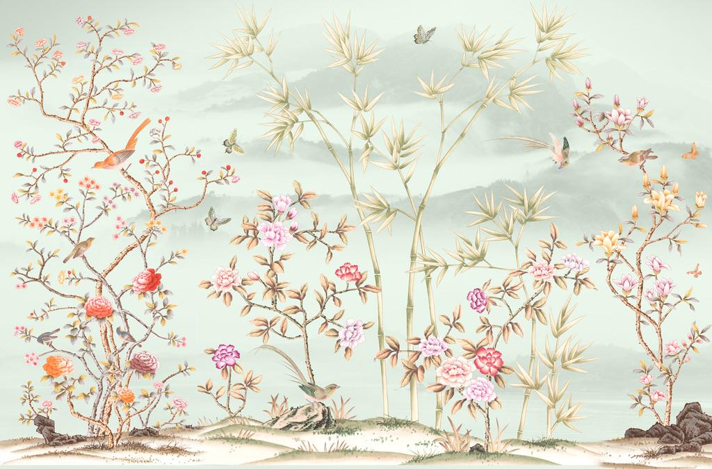 手绘图 欧式花鸟图片