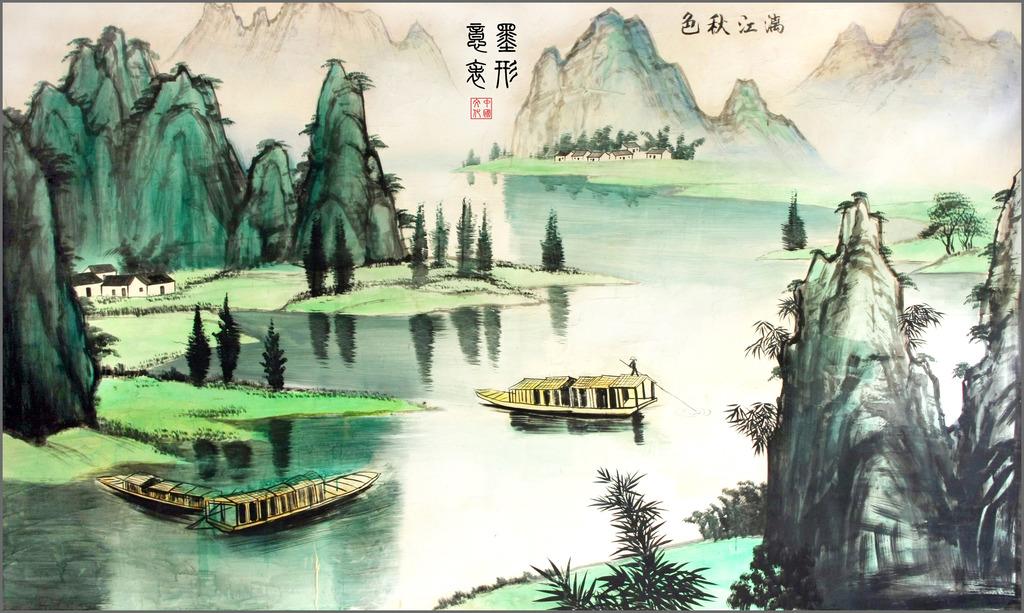 桂林山水画模板下载(图片编号:12242428)_装饰画_其他