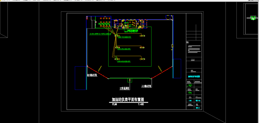 加油站施工图电气图