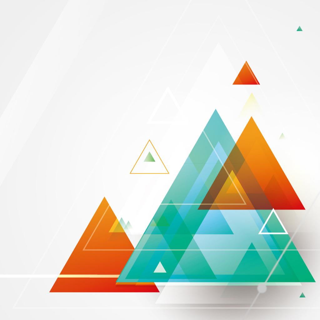立体感三角形图片