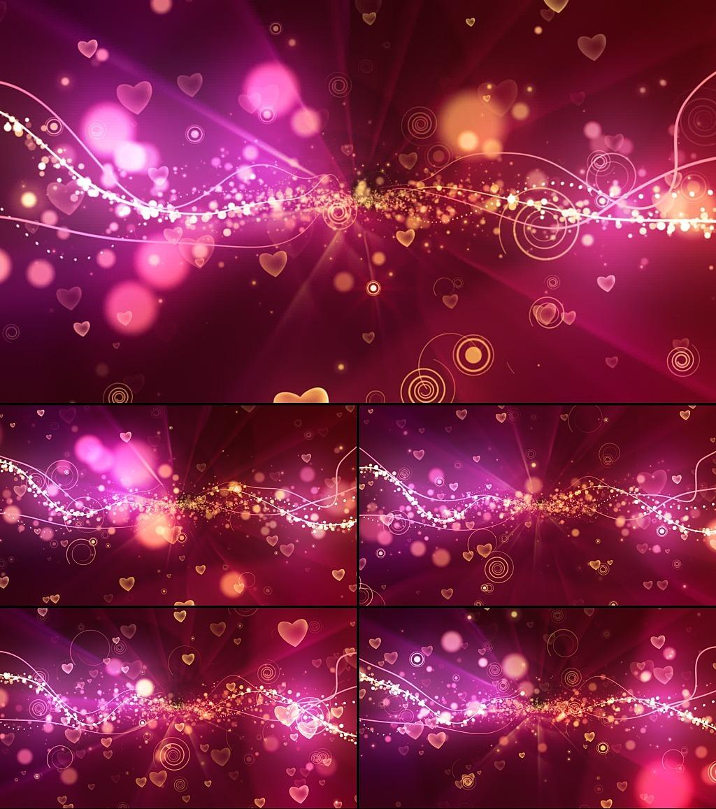 视频素材 动态视频素材 动态 特效 背景视频素材 > 红色适合婚礼背景