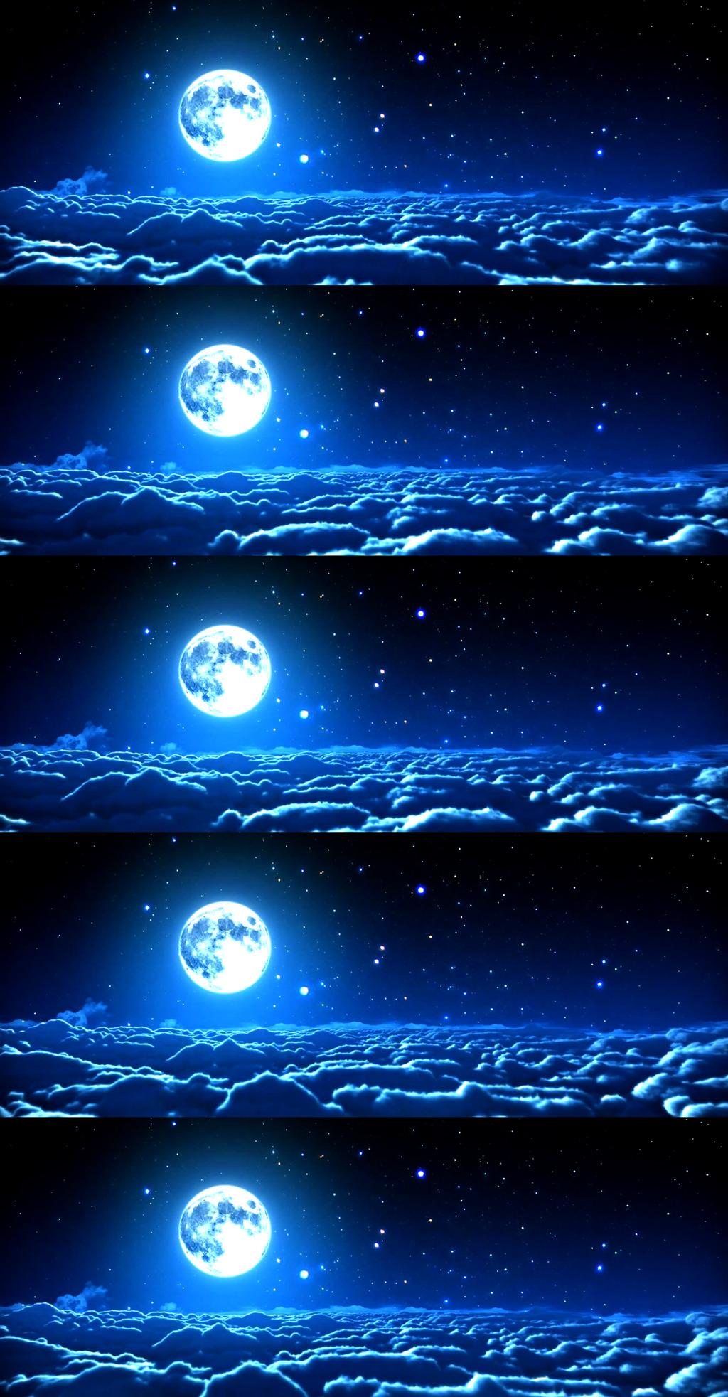 蓝色月亮高清壁纸