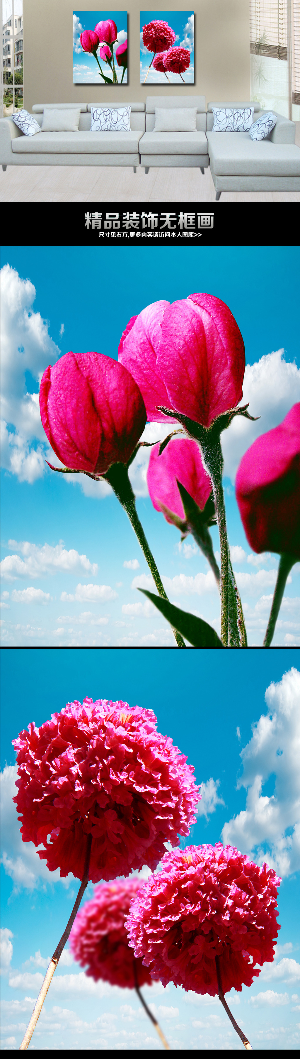 花卉画家居装饰画-花卉画