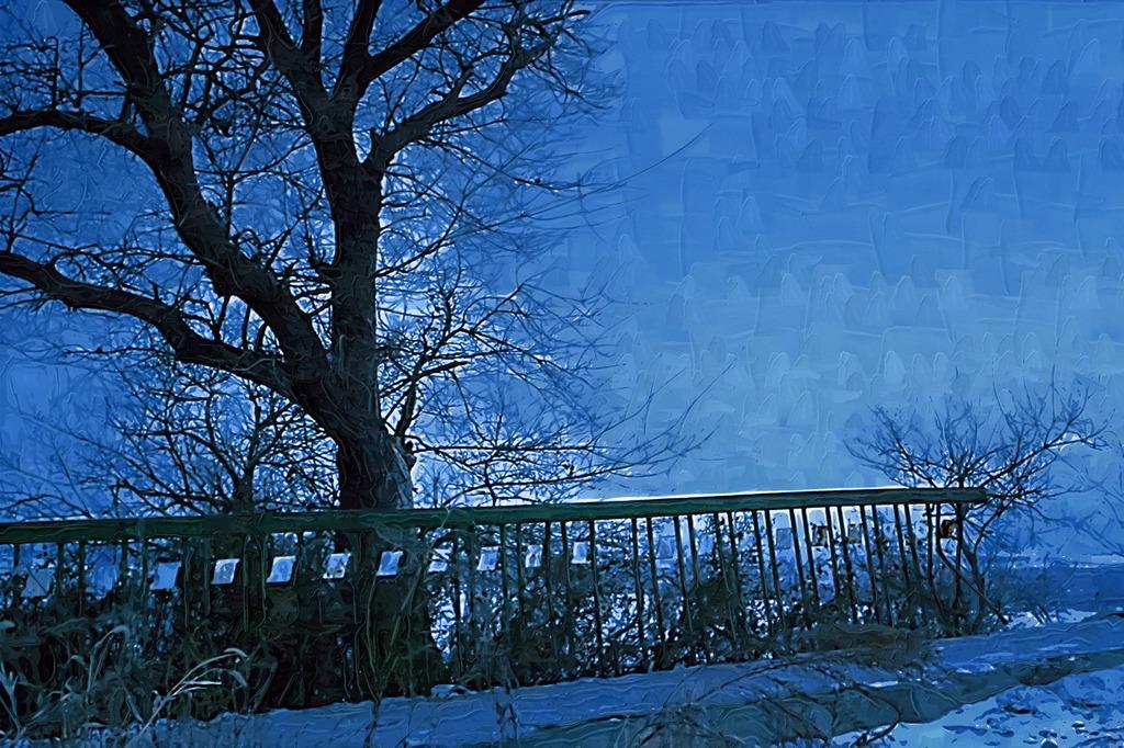 树木风景画