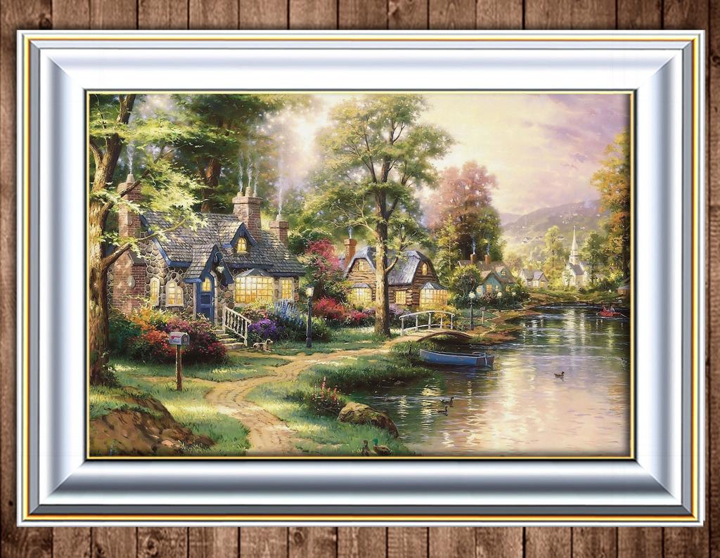 秋天别墅风景图片