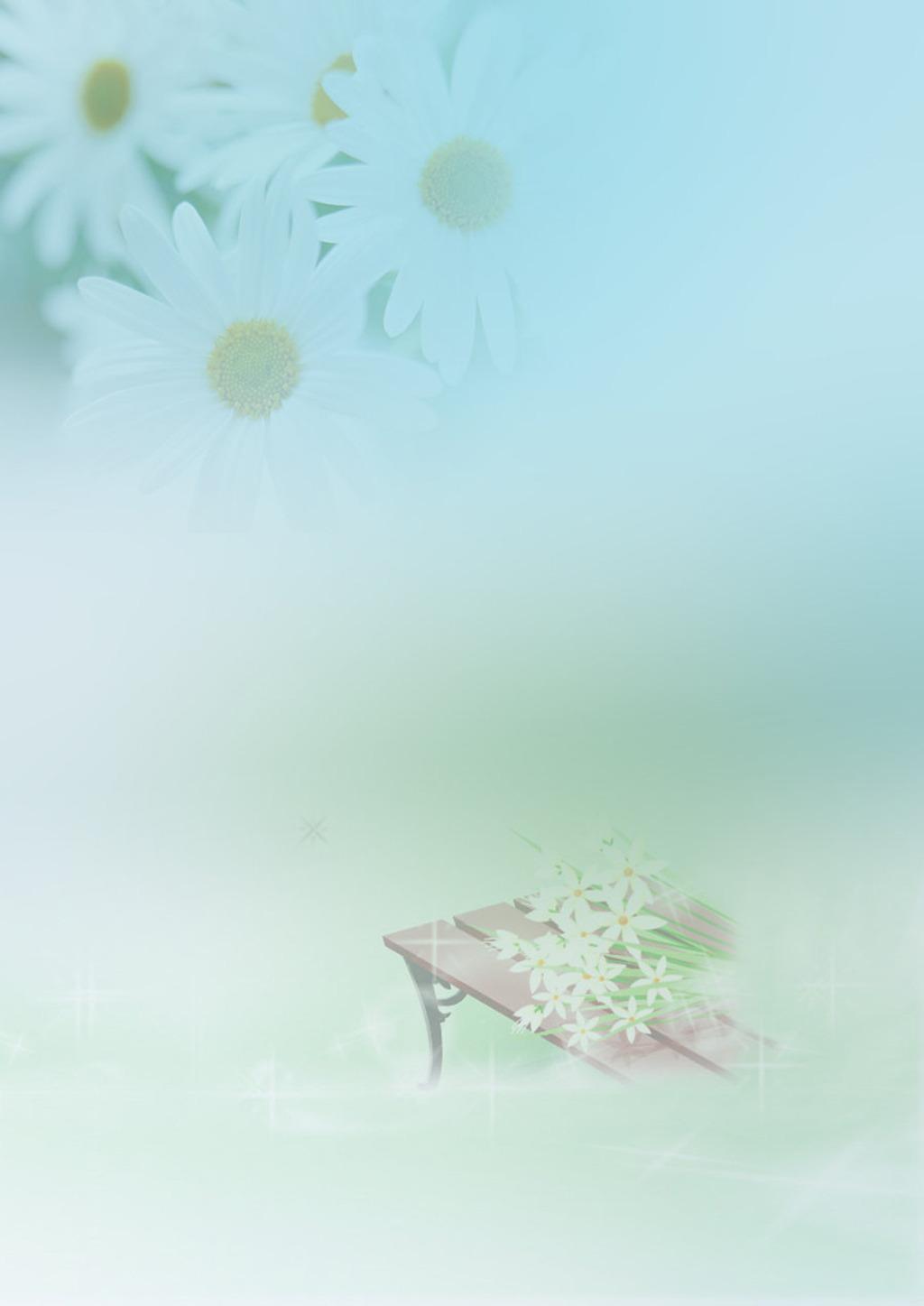 清新 梦幻 绿色背景 信纸模板