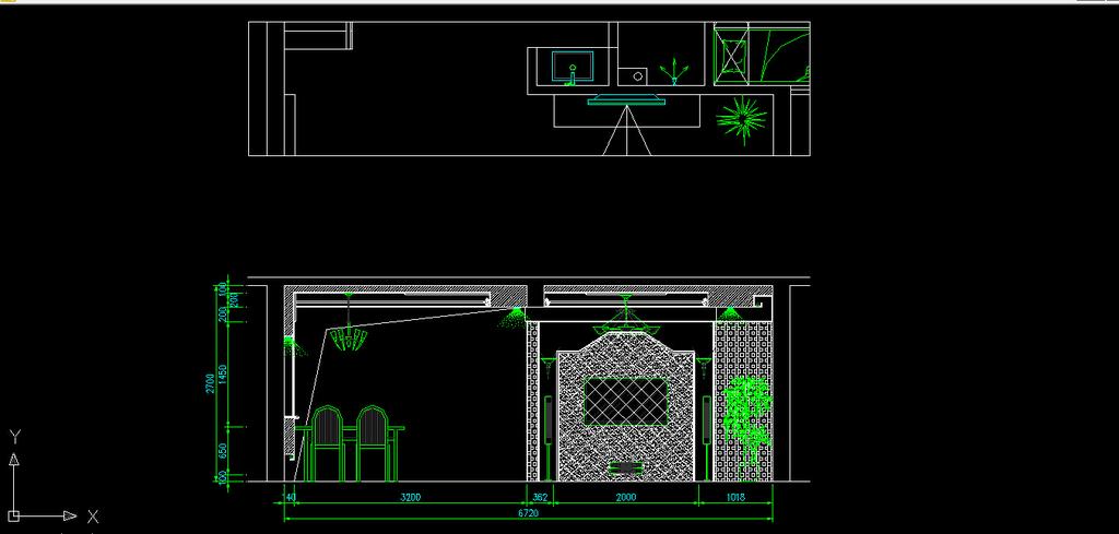 欧式风格别墅室内装修cad施工图纸