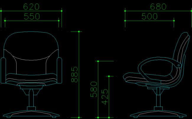dwg立体椅子图