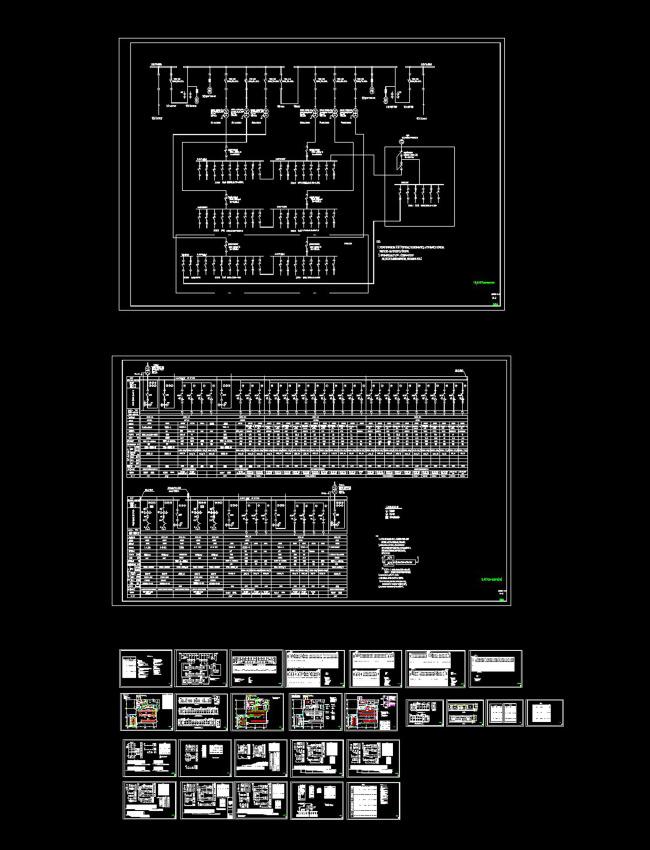 商场10kv变电所接线图cad图纸