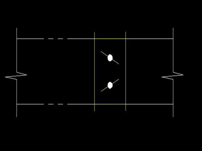 对开多叶调节阀-j电动cad图纸图片