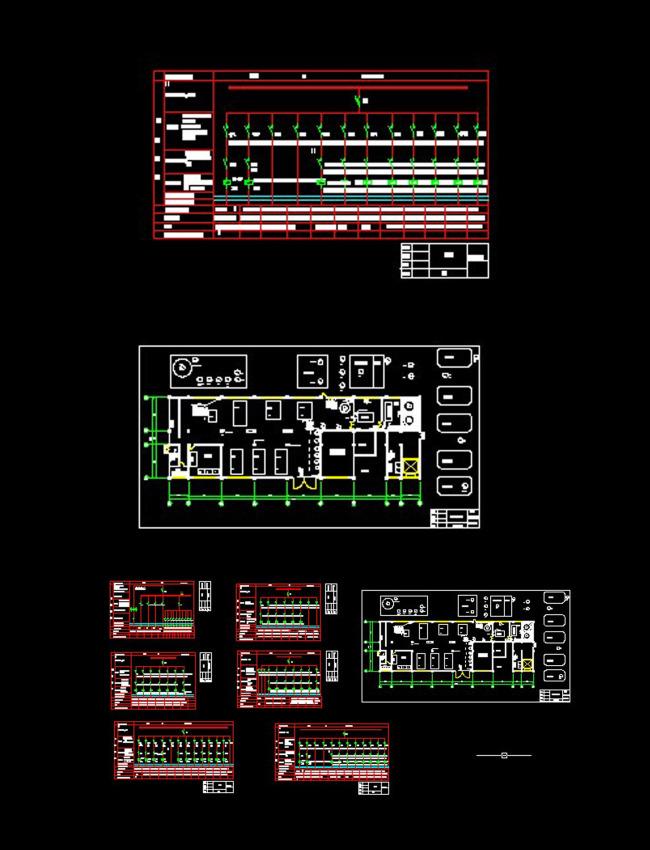 工厂供电系统图cad图纸模板下载(图片编号:12250607)