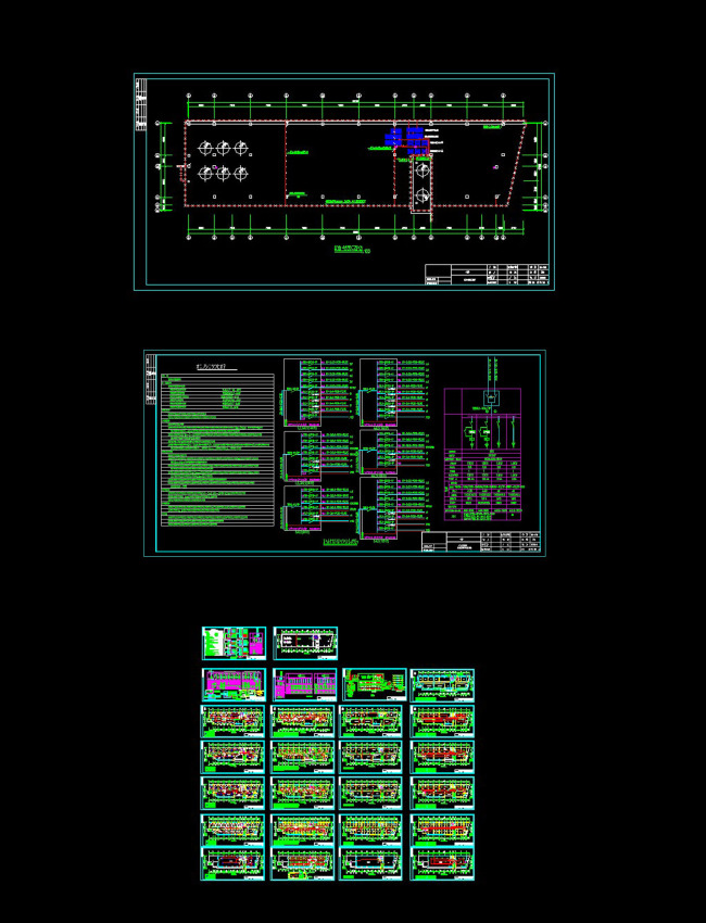办公楼全套电气cad图纸模板下载(图片编号:12251129)