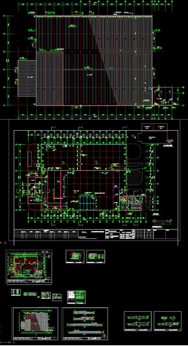 某钢结构厂办建筑平面图施工cad图纸模板下载
