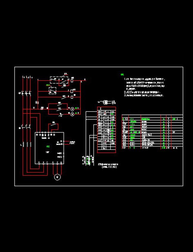 电动机二次接线cad图纸