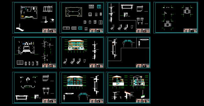 3层框架结构别墅建筑施工图模板下载 3层框架结构别墅建筑施工图图片
