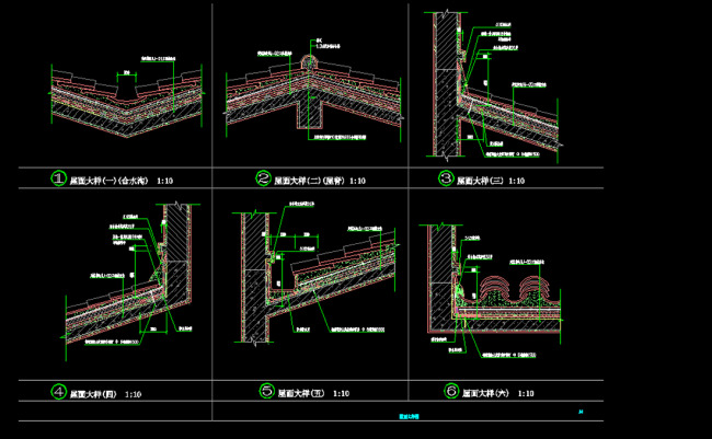 屋面大样图模板下载 屋面大样图图片下载 二层别墅建筑施工图 二层