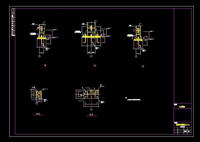 cad图库 室内设计cad图库 cad图纸 > 柱脚节点详图 a(二)(铰接柱脚)