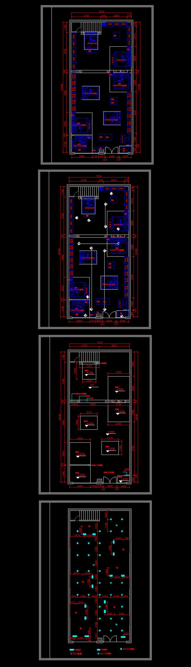 图模板下载 家纺城装修cad施工图图片下载 建筑施工图 室内装修施工图