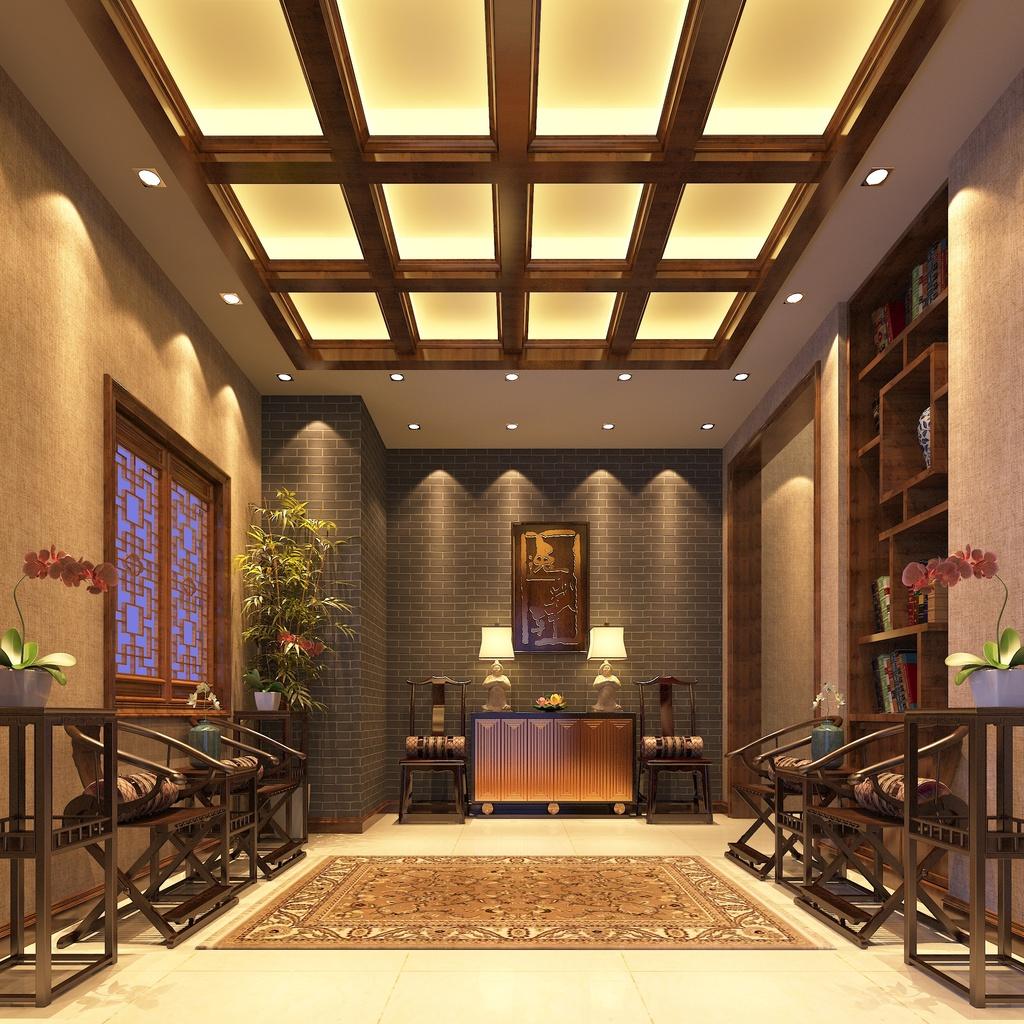 3dmax模型素材中式风格会客厅