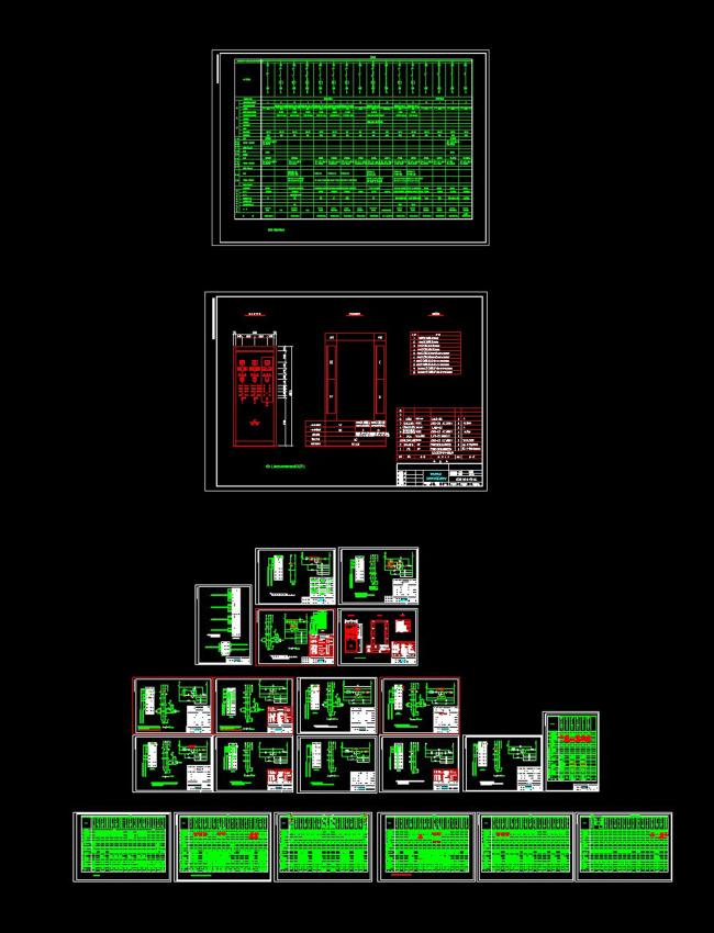 【dwg】电机控制原理及外引端子接线cad图纸
