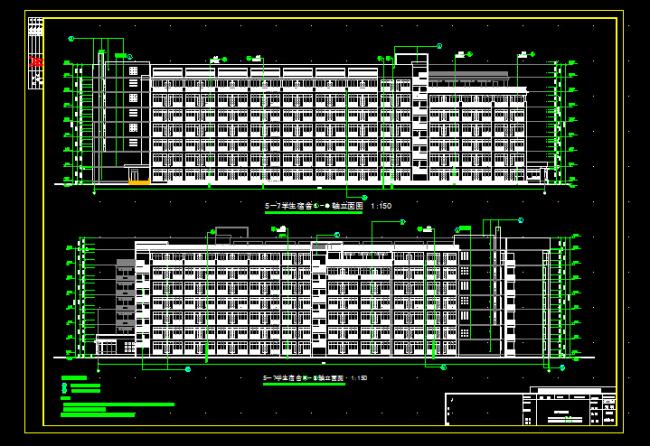 宿舍大楼平面图cad