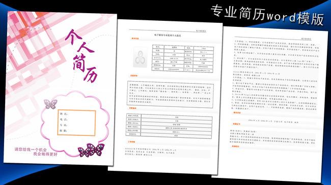 电子商务简历模板word下载