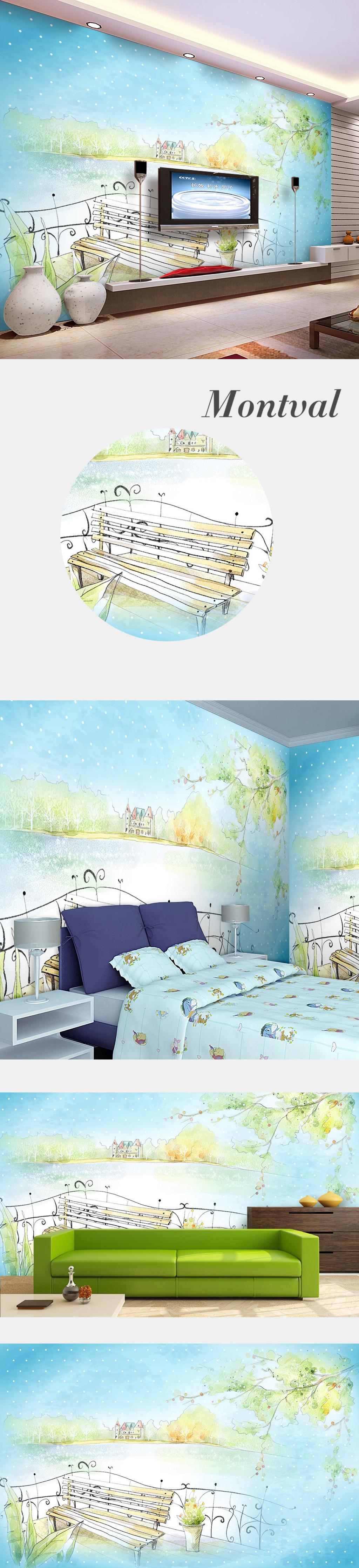 梦幻幼儿园装饰画插画手绘卡通