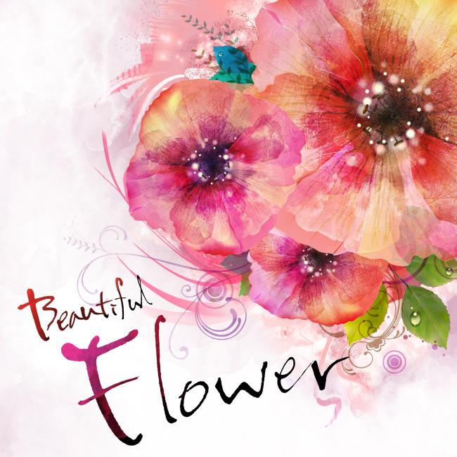 水墨花朵模板下载 水墨花朵图片下载 花朵 植物 手绘 花朵