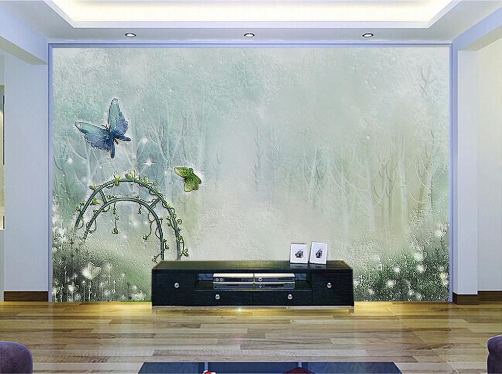 手绘创意方框时尚背景墙装饰图片下载 3d 硅藻泥电视背景墙室内背景墙
