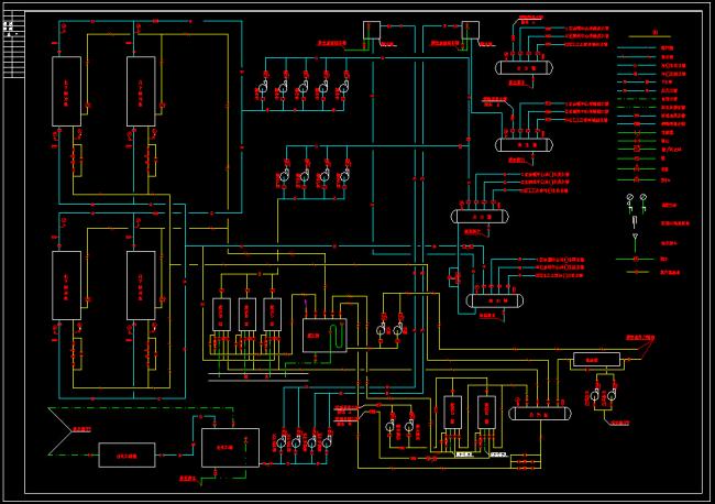 溴化锂制冷系统原理图cad图纸