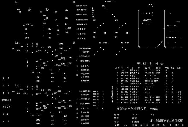 我图网提供精品流行星三角降压启动二次原理图CAD图纸素材下载,作品模板源文件可以编辑替换,设计作品简介: 星三角降压启动二次原理图CAD图纸,模式:RGB格式高清大图, 设计图 CAD 图纸 源文件 素材 电气 施工图 星三角 降压 启动 二次 原理图