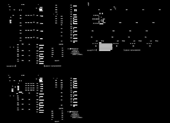 abb软启动器一拖四控制原理图cad图纸模板下载