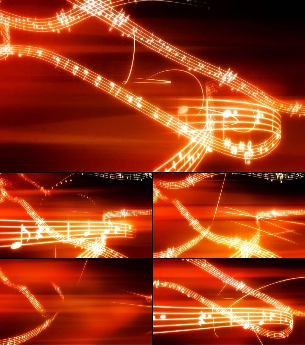 音符乐谱舞台背景视频素材模板下载(图片编号:)