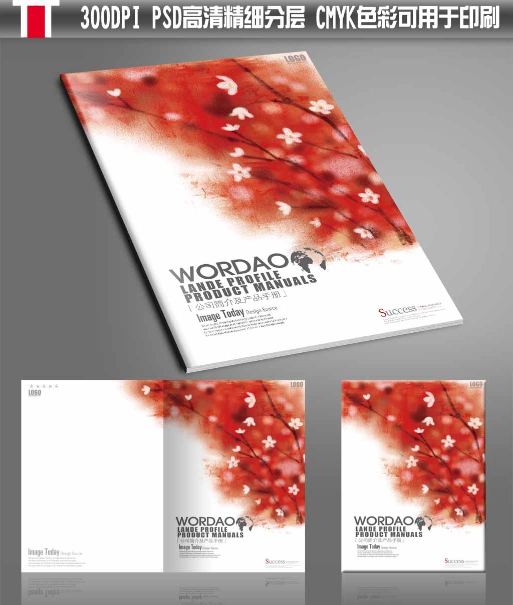 时尚花卉炫彩水彩手绘女性产品画册封面