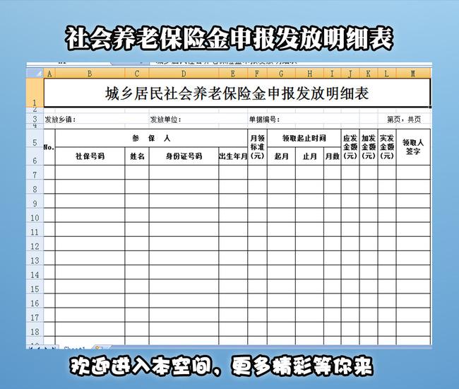 【公司养老保险报表】