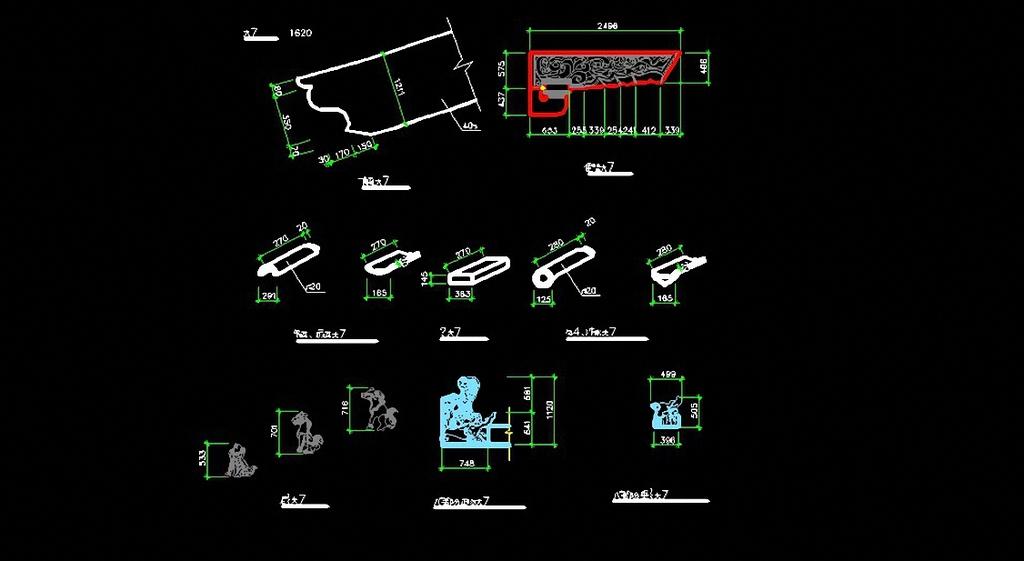 园林建筑檐角cad设计图模板下载(图片编号:12262412)